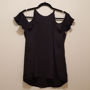 NWT Shinestar Black Off the Shoulder Blouse Top